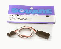 Square R/C Extension Cable (Small Servos) for Futaba/KO (200mm)
