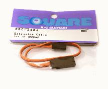 Square R/C Extension Cable (Small Servos) for Sanwa/JR (200mm)