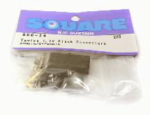 Square R/C Tamiya 7.2V Black Connectors (2x Male/2x Female)