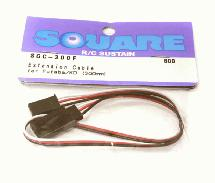 Square R/C Extension Cable (Small Servos) for Futaba/KO (300mm)