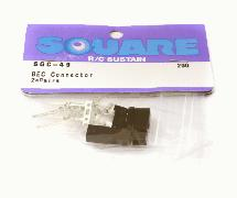 Square R/C BEC Connectors (2x Pairs)