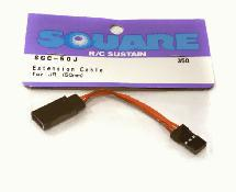 Square R/C Extension Cable for Sanwa/JR (50mm)