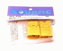 Square R/C XT-90S Anti-Spark Connectors (4x Male)
