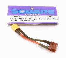 Square R/C T-Plug to XT-30 Connector Adapter Wire Harness