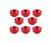 Square R/C M3 Aluminum Washers, Countersunk - for Servos (Red) 8pcs.