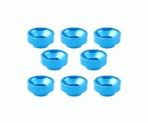 Square R/C M3 Aluminum Washers, Countersunk - for Servos (Light Blue) 8 pcs.