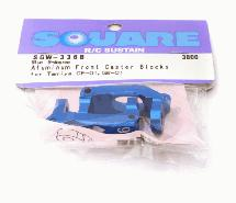 Square R/C Aluminum Front Caster Blocks, 6-degree (for Tamiya GF-01 and G6-01)
