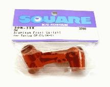Square R/C Aluminum Knuckles (for Tamiya GF-01 and City Turbo) Red