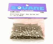 Square R/C Stainless Steel Hex Screw Set (for Tamiya G6-01)