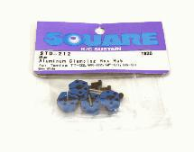 Square R/C Aluminum Clamping Hex Hub, 6mm Wide in Blue Color