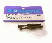Square R/C Aluminum Rear Drive Shaft (Black) Tamiya T3-01
