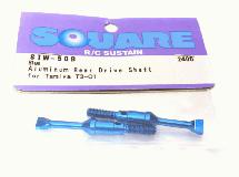 Square R/C Aluminum Rear Drive Shaft (Blue) Tamiya T3-01