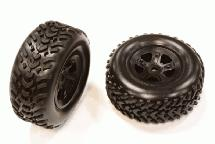 Type V Wheel and Tire Set (2) for Traxxas 1/16 Slash VXL (O.D.=66mm)