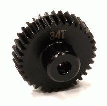 Billet Machined 34T Steel Pinion Gear for HPI Savage XS Flux