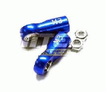 Alloy Ball End (2) 3mm Mounting Hole w/ M3 Thread (2) for Stock Jato Shocks
