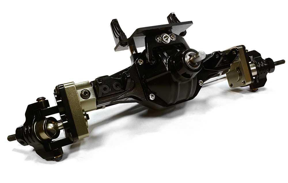 INTEGY RC Car C26525BLACKRED Complete Hi-Lift Gearbox F Axle for Axial Wraith