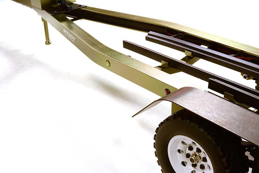 Machined Alloy Dual Axle Boat Trailer Kit for 1/10 Scale RC 670x190x160mm