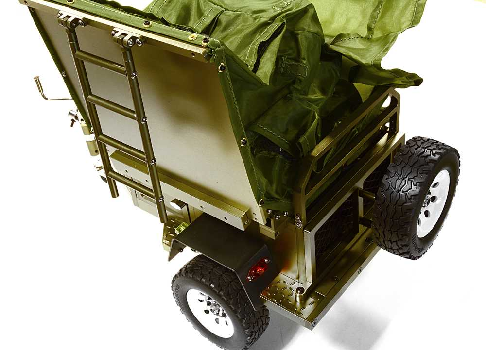 Alloy Realistic Model Camping Trailer w/Roof Top Tent for 1