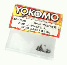 Yokomo Diff Ball 3/32 MR-4, RC-10TC3 ZD-505 (new)
