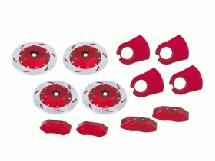 3Racing Realistic Brake Disk Set - Red For M Chassis