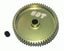 64 Pitch Pinion Gear 60T (7075 w/ Hard Coating)