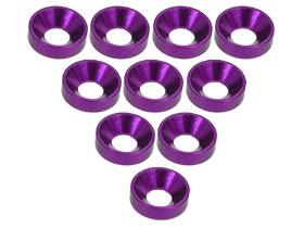 3Racing Aluminium M3 Countersink Washer (10 Pcs) - Purple