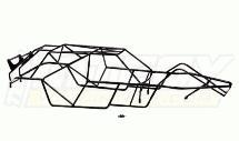 Type II Steel Roll Cage Body for HPI Baja 5B & 5B2.0