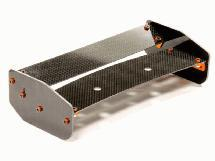 Black Carbon Fiber Rear Wing Set for HPI Baja 5B & 5B2.0