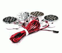 High Brightness LED Spot Light Set w/Plastic Housing(4)for HPI Baja 5B, 5T & 5SC