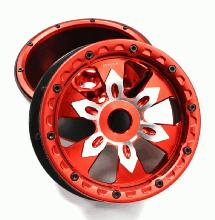 Alloy Front Beadlock Wheel w/ Polymer Barrel (2) for HPI Baja 5B, 5T 5B2.0 & 5SC