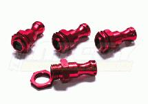 Red Extended EXT Wheel Adapter 23mm Hex (4) for 1/8 Buggy
