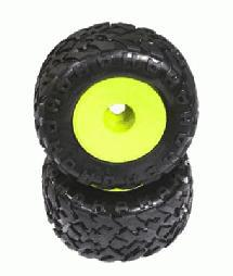 X-Wide Monster Wheel & Crawler Tire (2) for 23mm Hex (O.D.=175mm)