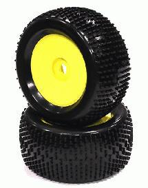 Monster & 1/8 Truggy Dish Wheel + Tire (2) H-Pattern 17mm (O.D.=135mm)