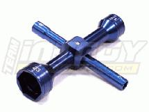 Quad Hex Socket Wrench 7mm + 8mm + 17mm + 23mm Size