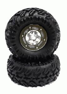 Type III Alloy 2.2 Wheel & Tire (2) for 1/10 Crawler w/ 12mm Hex (O.D.=125mm)