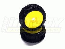 1/8 Buggy Dish Wheel+Tire (2) SQ-Pattern 17mm (O.D.=110mm)
