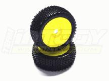 1/8 Buggy Dish Wheel+Tire (2) H-Pattern 17mm (O.D.=110mm)