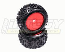 Monster/Truggy/Climber Wheel + Tire (2) 17mm (O.D.=140mm)