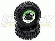 Type V Composite 2.2 Wheel & Tire (2) for 1/10 Crawler w/ 12mm Hex (O.D.=125mm)