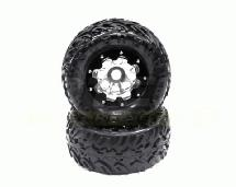 Alloy 8H 4.0 Super Size 1.95″ Wheel with 40 Size Tire (2) (O.D.=175mm)