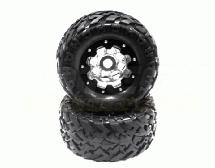 Alloy 8H 4.0 Super Size 2.75″ Wheel with 40 Size Tire (2) (O.D.=175mm)