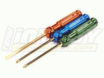 Ti-Nitride Team Screw Driver Set (#1, #2 & Flat Head)