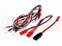 LED Light Set System for 1/10 Touring Car (6V) 4 White & 2 Red LEDs