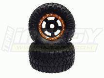 5R Spoke Beadlock 40 Size X-Wide 23mm Hex Monster Wheel + Tire (2) (O.D.=175mm)
