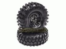 High Mass Type 1.9 Wheel & Tire Set (2) for Scale Crawler (O.D.=106mm)