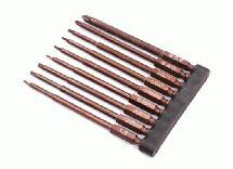 9pcs Phillips+Hex Tip Set w/ 1/4 Inch Adapter (0.05 1.5 1/16 5/64 2.5 3/32 3.0)