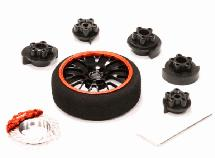 Evolution V Steering Wheel Set for Most HPI, Futaba, Airtronics, Hitec & KO