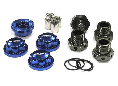 24mm Hex Wheel (4) Hub +3mm Offset for Traxxas 1/10 T-Maxx & Revo