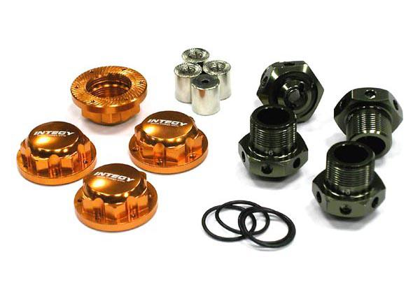 24mm Hex Wheel (4) Hub +6mm Offset for Traxxas 1/10 T-Maxx & Revo