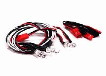Front LED & Rear LED Light Set (6) w/ Wire Harness